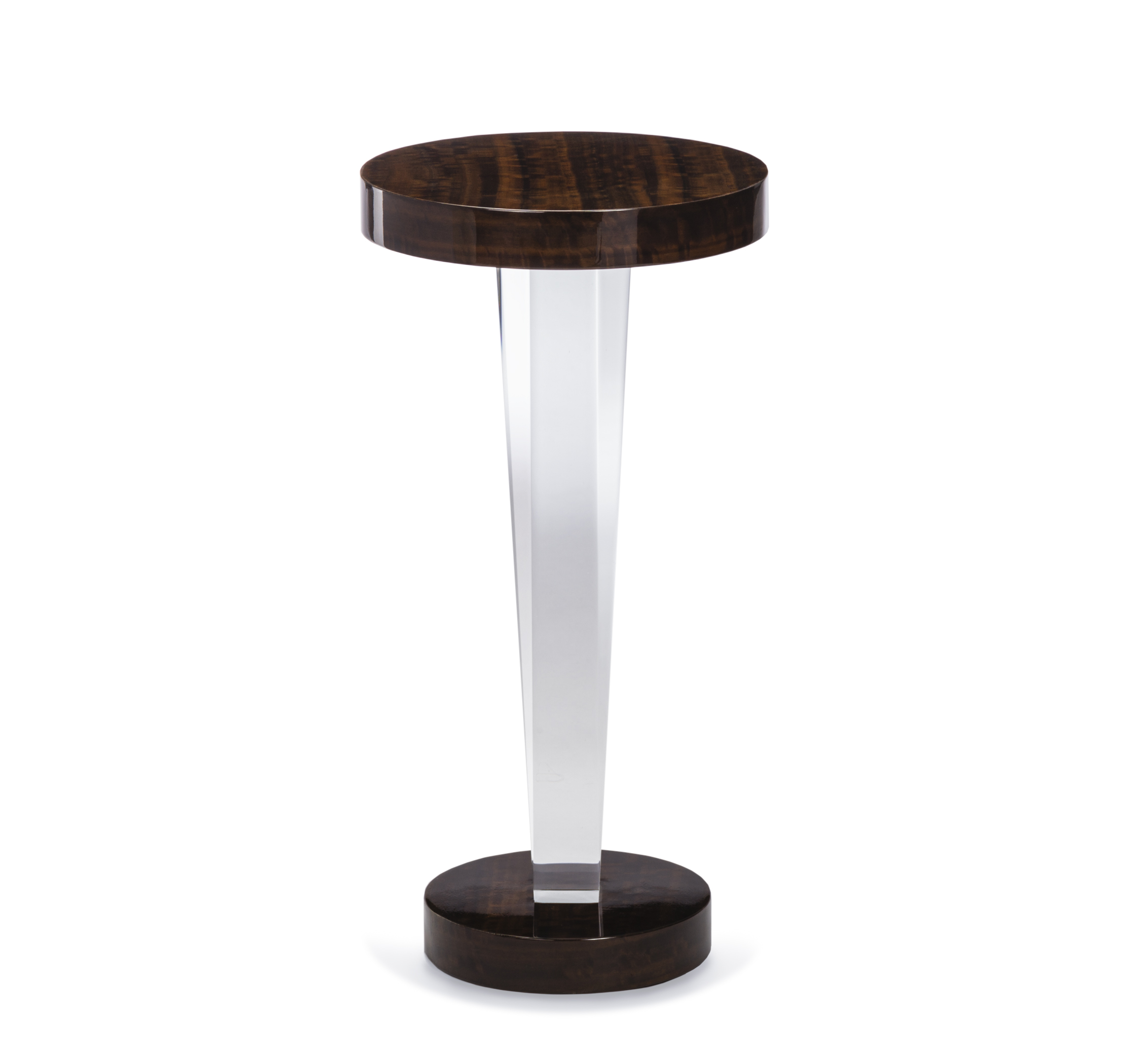 liora acrylic and wood drink table living room side accent tables interlude home robb stucky target coffee with storage parsons ashley furniture occasional set garden bench teton