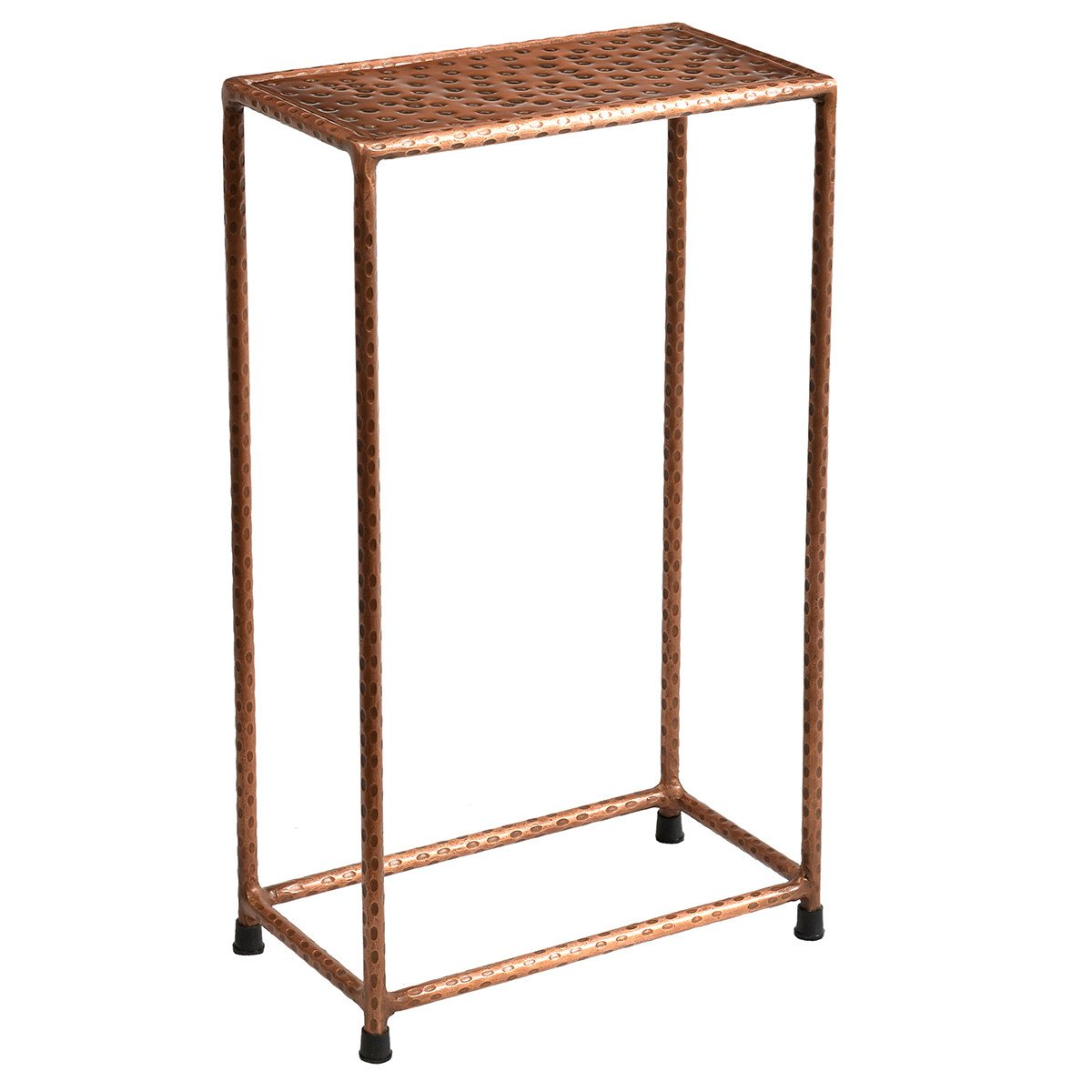 little hammered iron side table copper wrightwood furniture gold accent magazine ikea plastic storage boxes with wheels end tables glass tops ethan allen drop leaf coffee black
