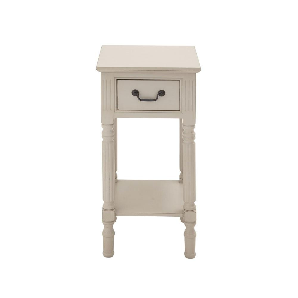 litton lane antique white wooden accent table the end tables ice box cooler side console lamps sofa company concrete look small round wine dining cover set glass bedside drawers