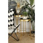 litton lane black rounded triangular glass accent tables with gold end table iron frame and legs set red asian lamp house designs furniture bags rustic contemporary modern coffee 150x150