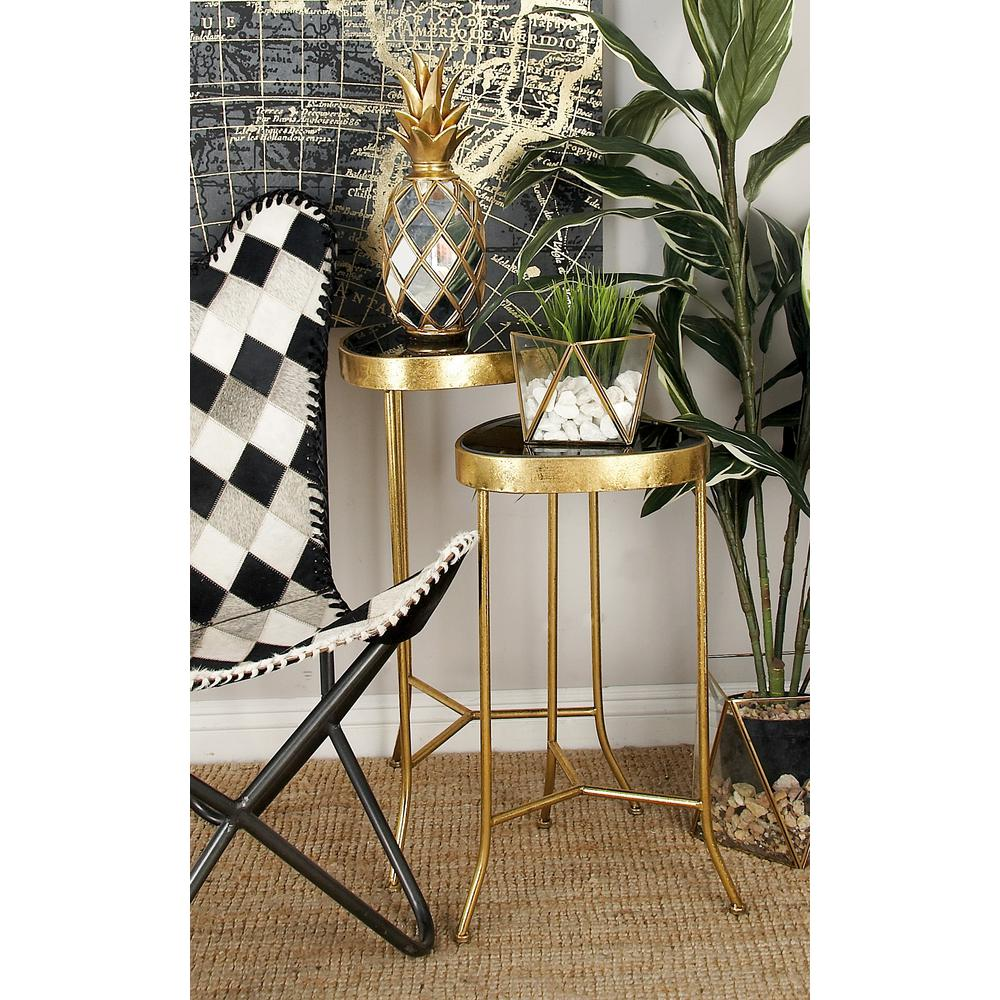 litton lane black rounded triangular glass accent tables with gold end table iron frame and legs set red asian lamp house designs furniture bags rustic contemporary modern coffee