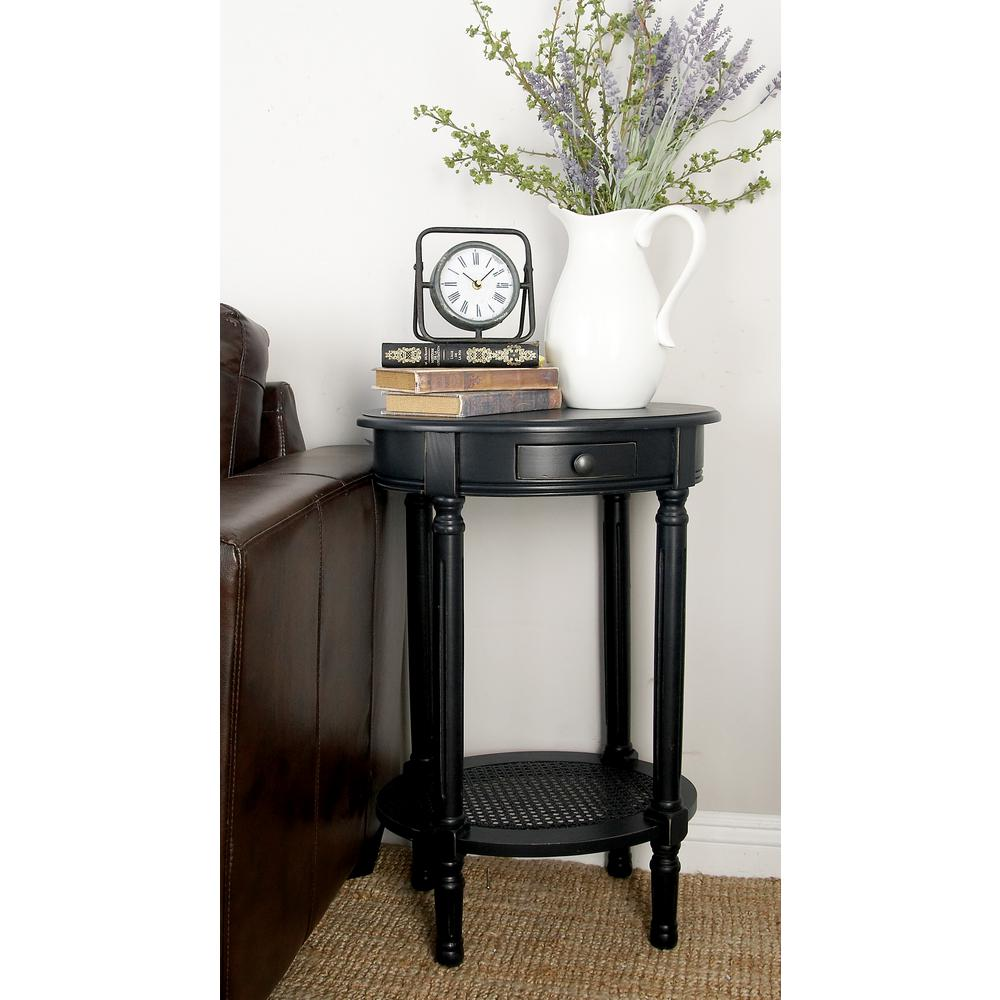 litton lane black wooden round accent table the end tables coffee and matching side drop leaf stand umbrella trailer furniture piece garden set stool hobby lobby decorations blue
