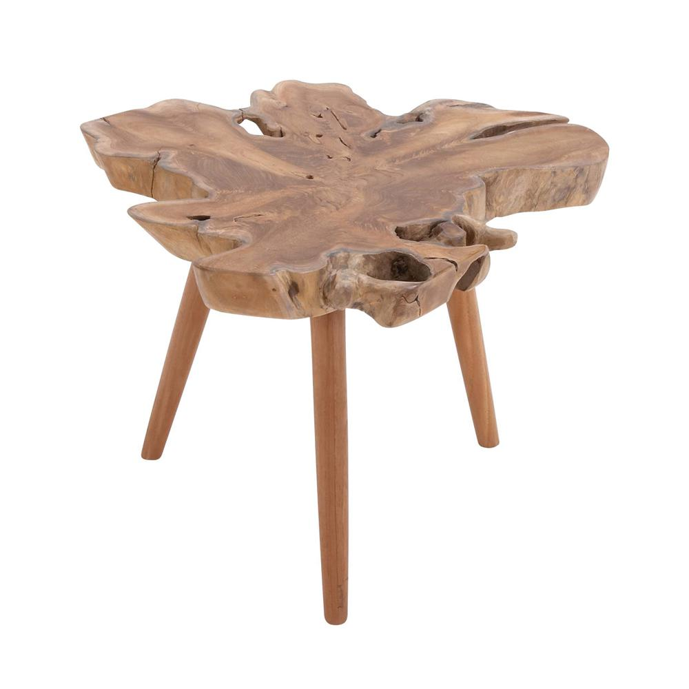 litton lane brown teak wood burl accent table with tripod legs end tables white crystal lamp gold target bedside lamps side light laptop wicker chairs barn door ideas floor