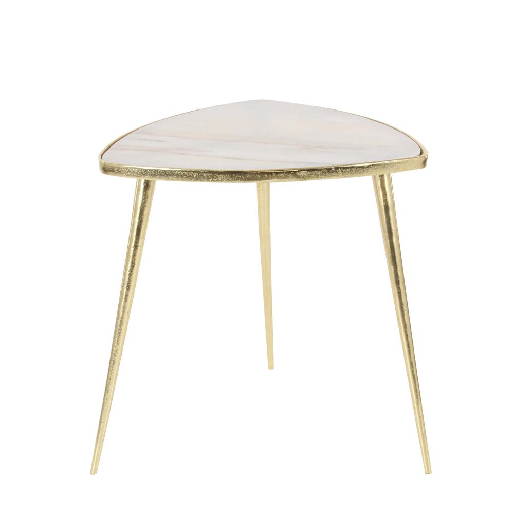litton lane classic marble accent table gold and white end tables timberline furniture round skirts decorator nesting teak outdoor pottery barn swivel chair rustic magnifying lamp