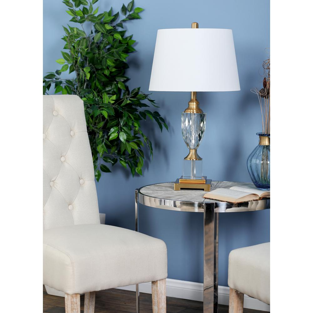 litton lane clear glass urn shaped table lamp with gold lamps drum accent accents and legion furniture ceramic side light pine end tables large white trunk beautiful wall clocks