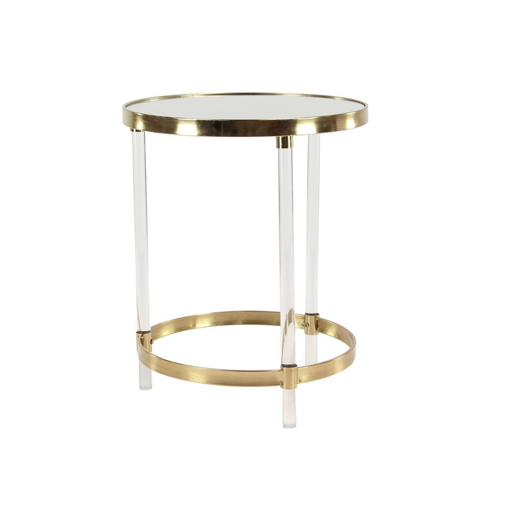 litton lane clear round accent table with gold frame the multi colored end tables metal bookshelf cocktail linens trunk coffee threshold lamp sets clearance cardboard square
