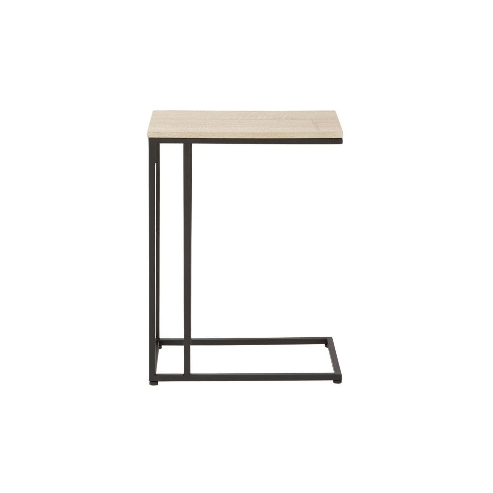 litton lane cream rectangular accent table with black iron frame and end tables legs the threshold round kitchen chairs ikea garden pots wingback chair setting dining seats brass