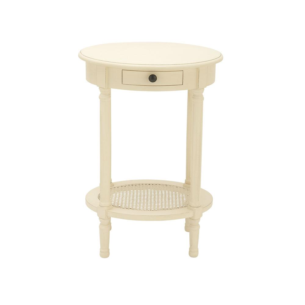 litton lane cream white wooden round accent table the end tables with drawer black and bedside hampton bay wicker patio furniture world flexible carpet transition strip counter