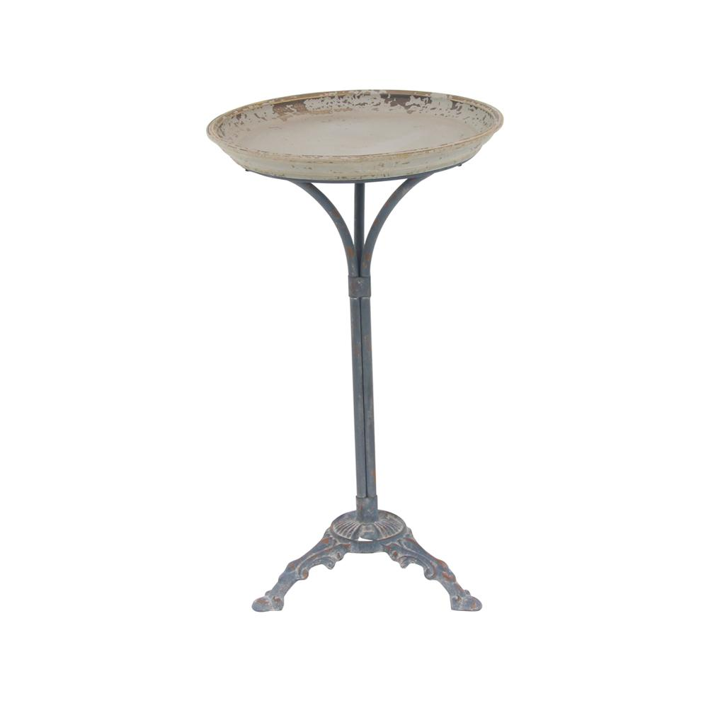 litton lane distressed white accent table with black scroll legs multi colored end tables pedestal the kitchen metal outdoor gray coffee and home entertainment furniture hardwood