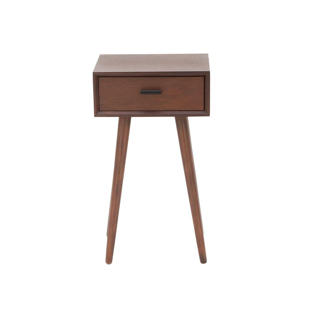 litton lane drawer modern brown wooden accent table end tables with inch tablecloth new vintage furniture dining plate mat hollywood mirrored side light cordless lamps weber