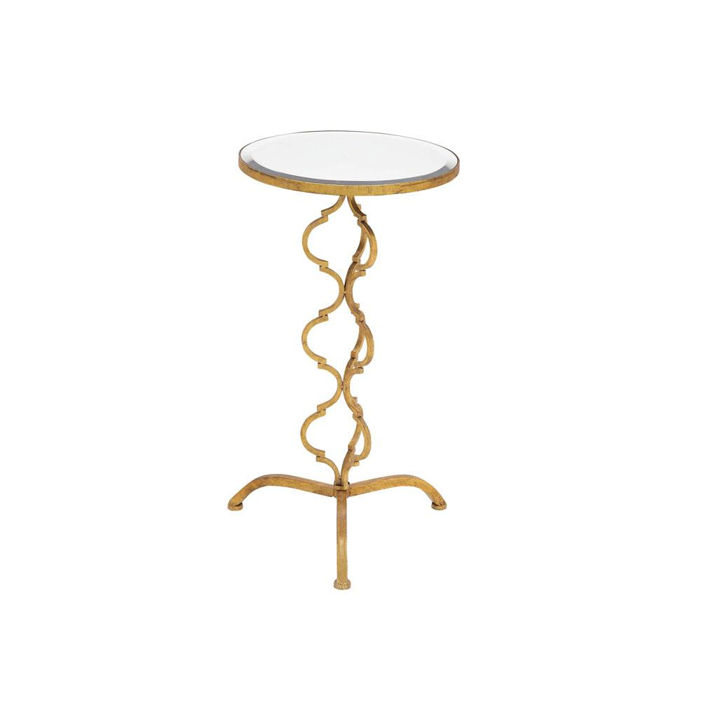 litton lane gold metallic byzantine accent table with clear glass end tables round top the pottery barn reclaimed wood coffee counter height legs minotti furniture threshold