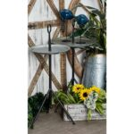 litton lane gray accent table with pedestal tray stand design multi colored end tables metal outdoor shelf barn sliding door hardware pier lamps big umbrella brass lamp ikea 150x150