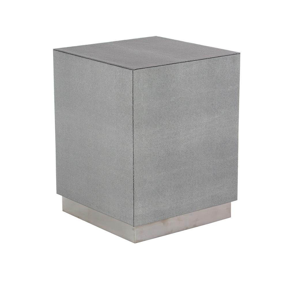 litton lane gray cube shaped accent table with beveled base end tables round cardboard top concrete coffee berg furniture nesting dining white plastic outdoor side marble and