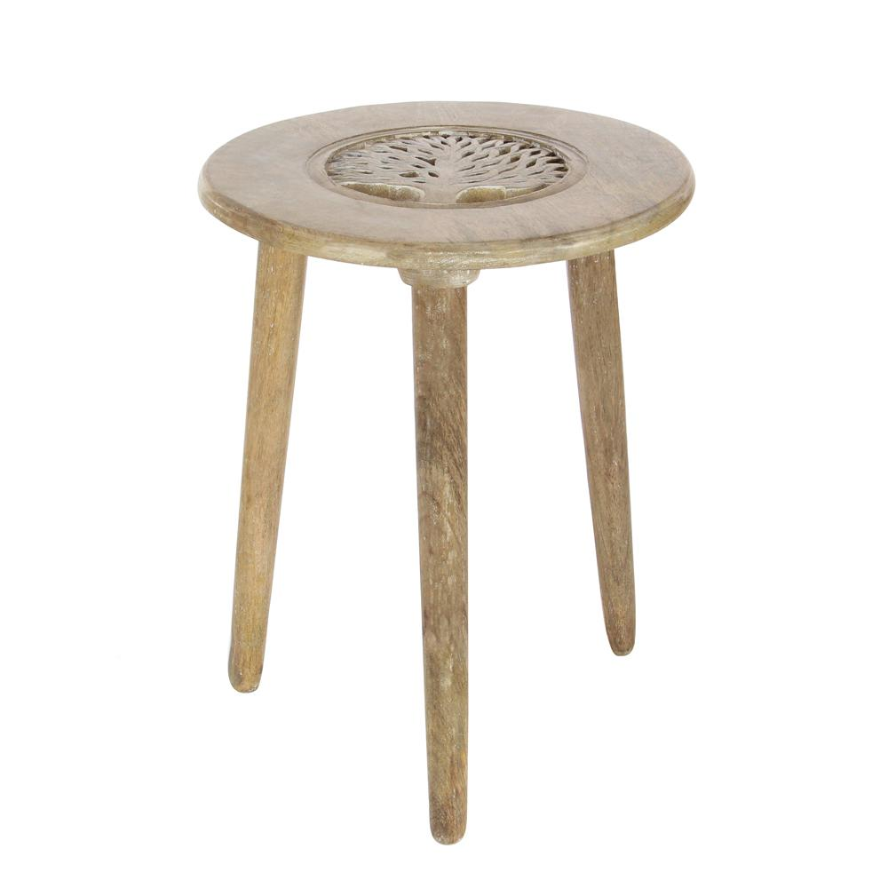 litton lane light brown carved tree wood legged accent table end tables sofa inexpensive nightstands transition pieces for flooring resin wicker patio side glass dinette set