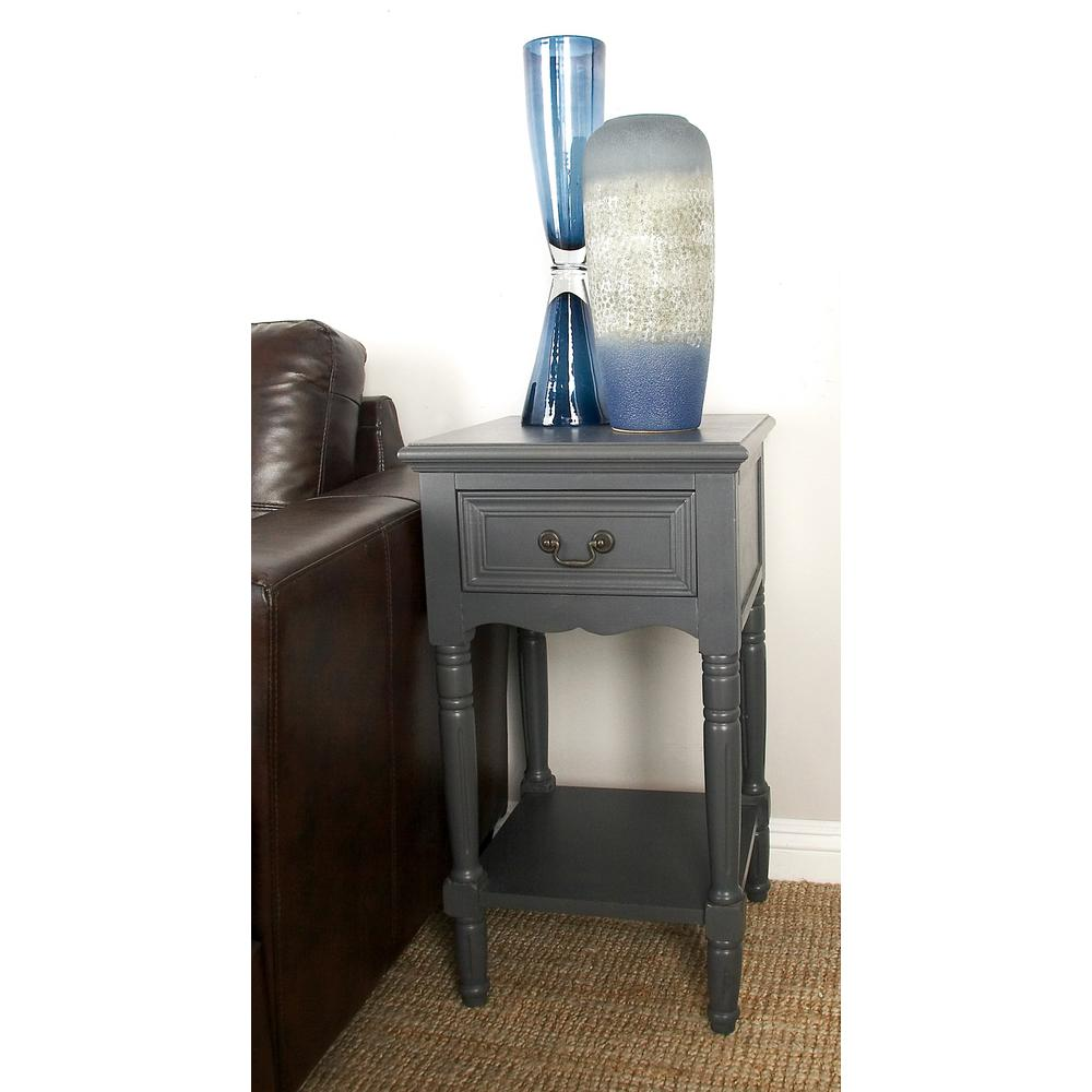 litton lane matte dark java wooden accent table with drawer and end tables shelf bottom ethan allen used ikea storage metal pin legs solid wood coffee moroccan tile bistro pub
