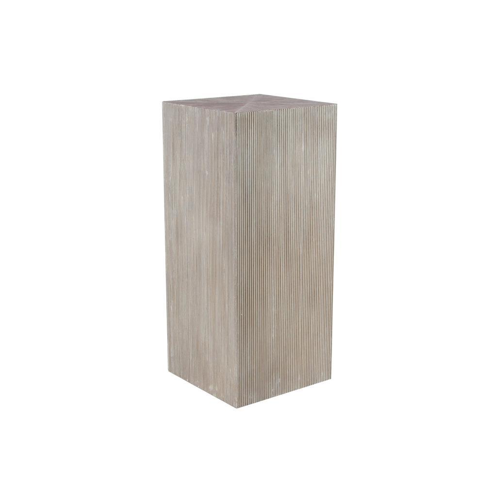 litton lane rustic white wood pedestal tables set the end accent table target threshold windham cabinet plants unfinished bookcases golden oak keter cool bar futon unique patio