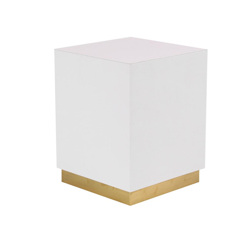 litton lane white square accent table with gold base the end tables modern pedestal distressed round side black and silver nest waterproof phone pouch target kitchen chair