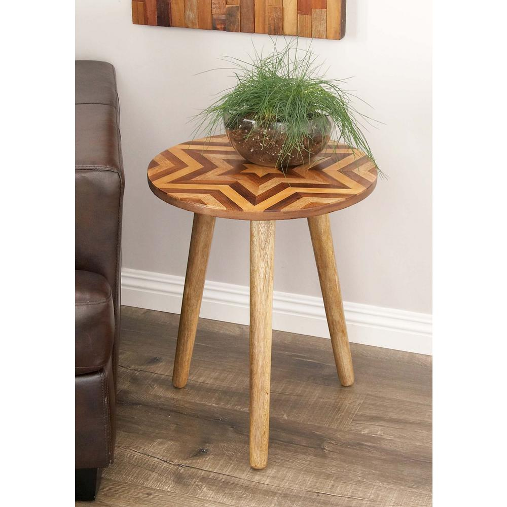 litton lane wooden chevron patterned round accent table brown end tables butler desk furniture modern wood coffee sectional with ott very narrow console home hardware lamps oval