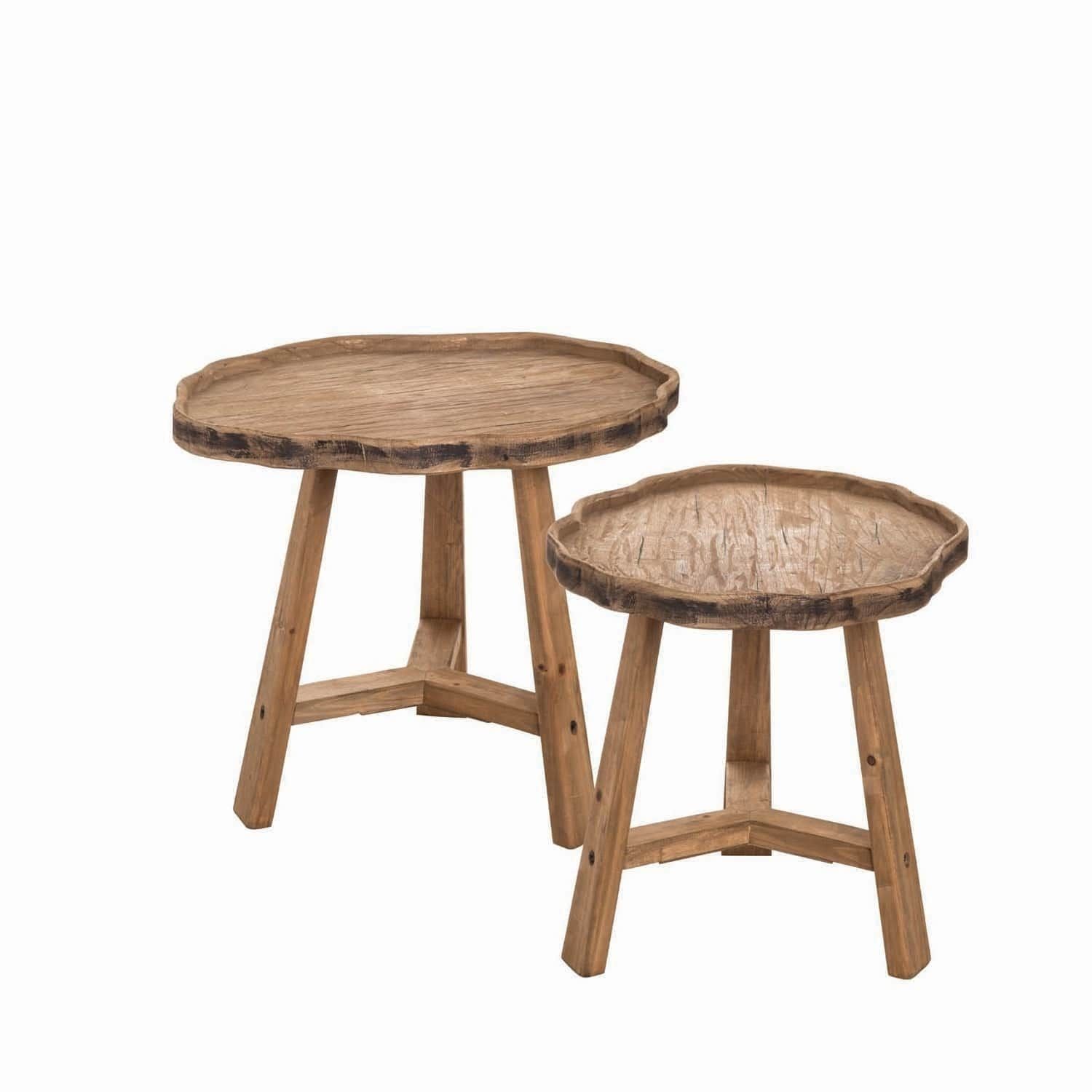 live edge accent tables set free shipping today wood table furniture legs oblong coffee small occasional living room mid century modern bookcase kitchen lamp uttermost wall art