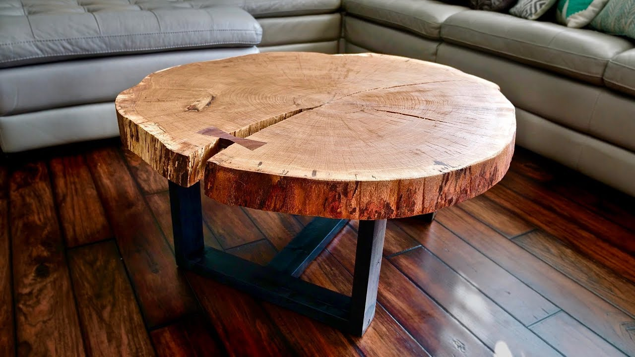 live edge coffee table how flatten slab wood slice accent woodworking piece black sets coral home accessories west elm side with drawers living room crystal lamp shades for lamps