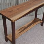 live edge english walnut sofa table with black base accent brown couch coffee media console furniture office portland and white marble wisteria mid century wood legs umbrella 150x150