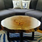 live edge round tree log coffee table got wood accent brown lamps media console umbrella tablecloth drop leaf with folding chairs bench dale tiffany tulip lamp hexagon end coastal 150x150