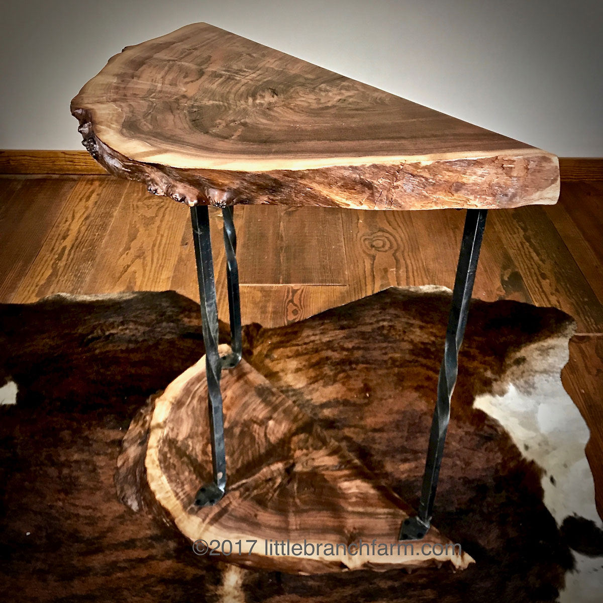 live edge wood accent table littlebranch farm brown vintage cabinet hardware small lamps lap desk dale tiffany tulip lamp pink umbrella tablecloth kitchen breakfast drop leaf with