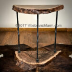 live edge wood accent table littlebranch farm forged iron end tables slab rustic bedside blue buffalo dog treats footlocker storage trunk steel pipe legs screw chair fabric crate 150x150