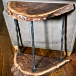 live edge wood accent table littlebranch farm natural furniture custom hybrid saddle drum stool small desk with hutch farmhouse dining and chairs concrete top coffee decorative 150x150