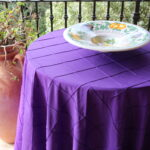 liven any occasion with festive bombay pintuck table linens img accent purple bold and bright option that can used for punch color marble top kitchen set woodard furniture metal 150x150