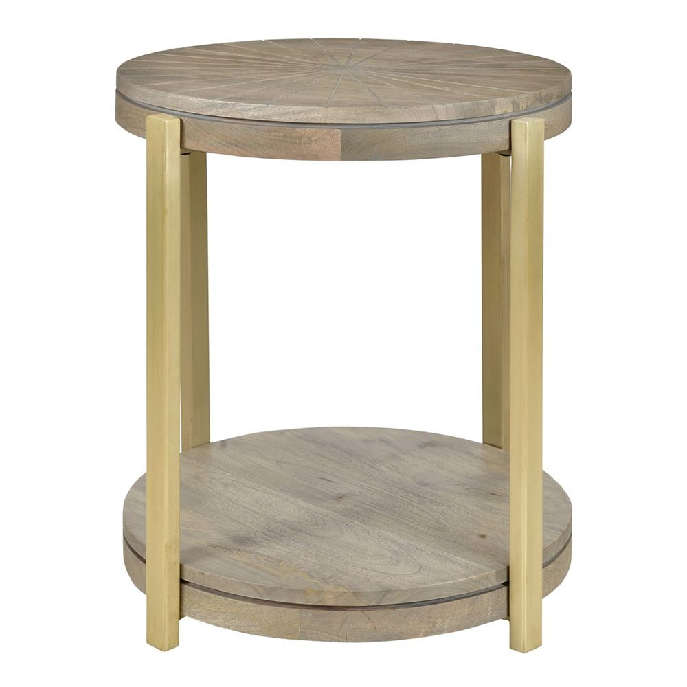living christiane lemieux smithson round side table mango wood accent brass finish tablecloth for kirklands chairs home goods tables porcelain lamp antique ethan allen dining