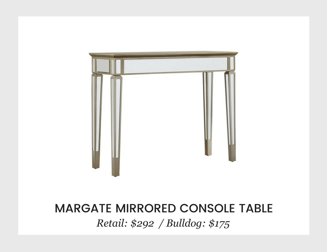 living room bulldog liquidators margate mirrored console table threshold accent resin outdoor side wine cooler bucket buffet coffee fold top used ethan allen tables clear plastic