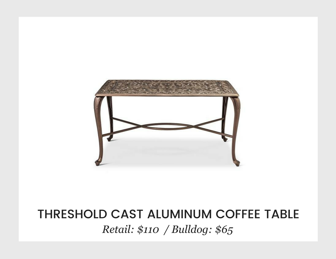 living room bulldog liquidators threshold cast aluminum coffee table margate accent mirrored console new home decor ideas brass small porch furniture insulated ice bucket party