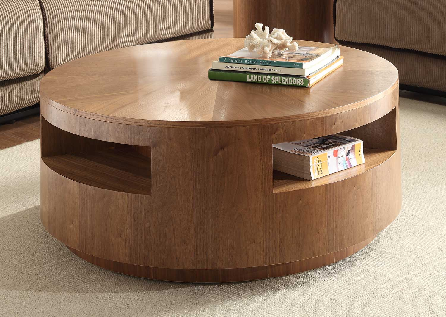 Low Round Wood Coffee Table.Low Round Accent Table Grottepastenaecollepardo