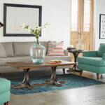 living room magnolia home mcm sofa chair aspx table between two accent chairs iron trestle short metal ashley furniture console tables essentials lucite side top target tall big 150x150