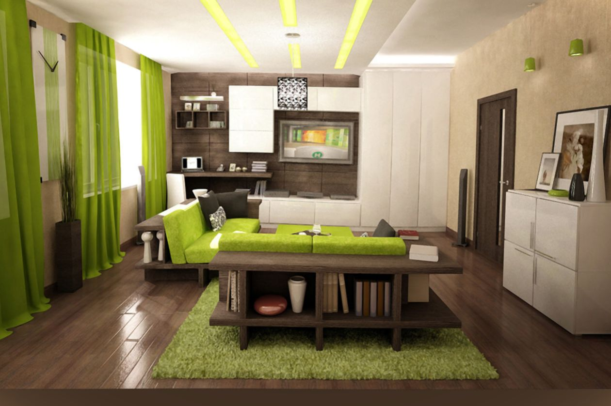living room modern green apple sofa furniture designs marvelous grey and lime decor ideas with behind bookcase also laminate wooden floor plus fur rug accent table using brown