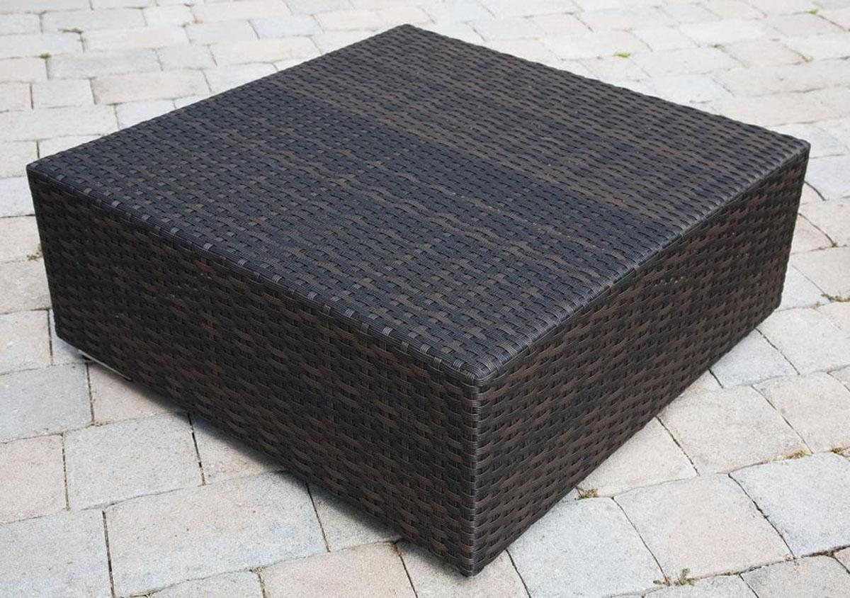 living room resin wicker accent table patio side dark coffee brown outdoor full size tablecloth for inch round battery operated dining light retro chairs charging console pottery