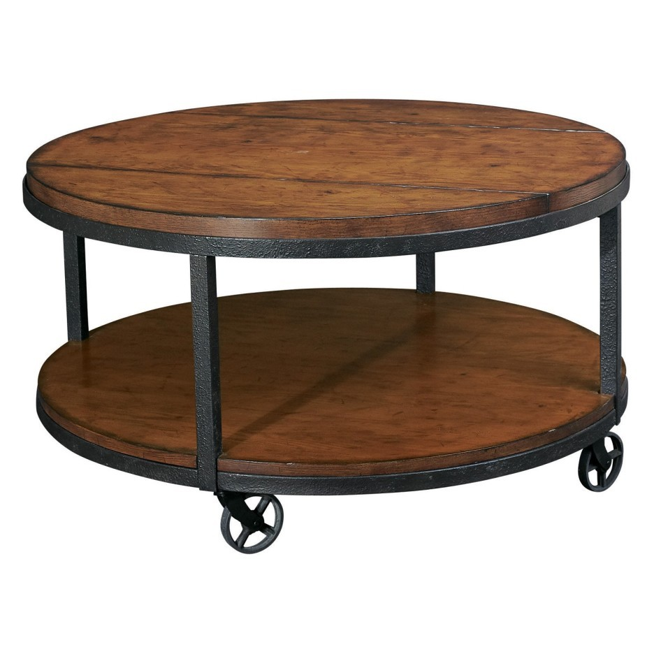 living room rustic end table with square brown wooden tables feat metal furniture round varnished coffee caster black iron frame legs tier accent target rectangular patio