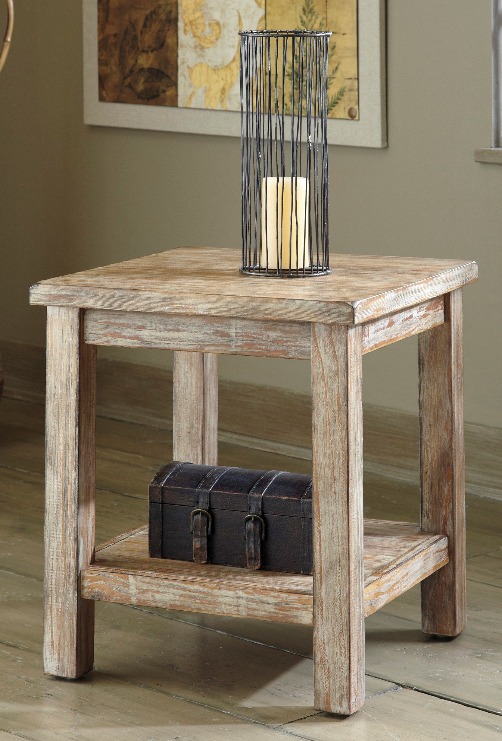 living room rustic furniture with adjustable round accent teak wood end table design idea square wooden side tier black metal mission candle holder finish jewelry storage box lid