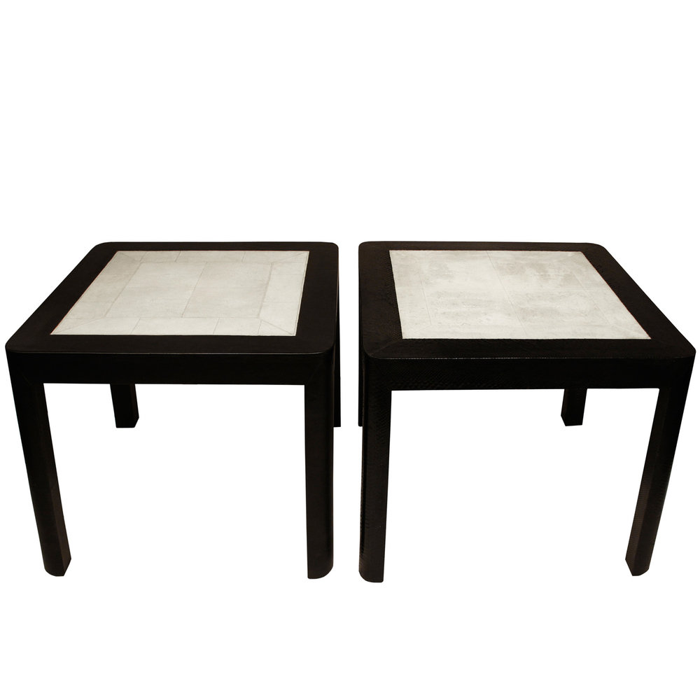 living room without end tables probably perfect beautiful white karl springer lobel modern nyc clad table with shagreen tops coffee dimensions design custom black accent drawer