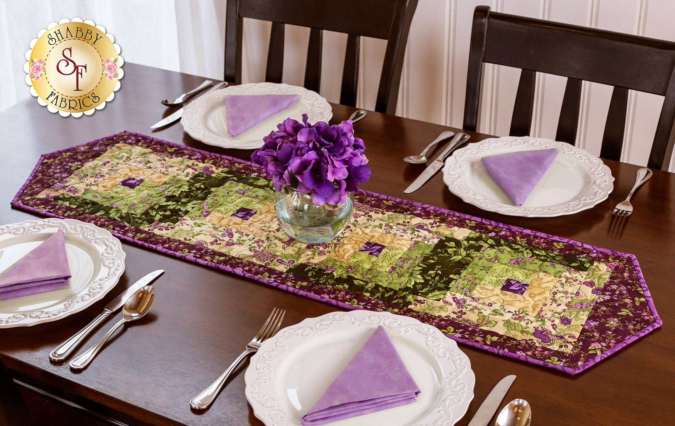 log cabin table runner pre cut kit aubergine shabby fabrics logcabin auberginerunner product kenzie accent baby scale target barn door kindle fire round patio chair foyer ideas