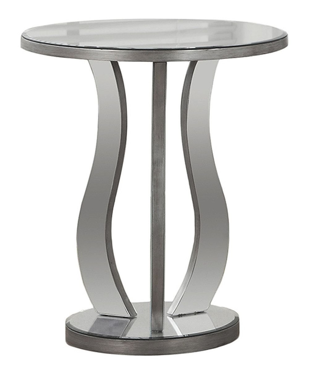 look this brushed silver mirrored round end table zulily accent today garden furniture small tables bronze side floor transitions square white coffee marine style light fixtures