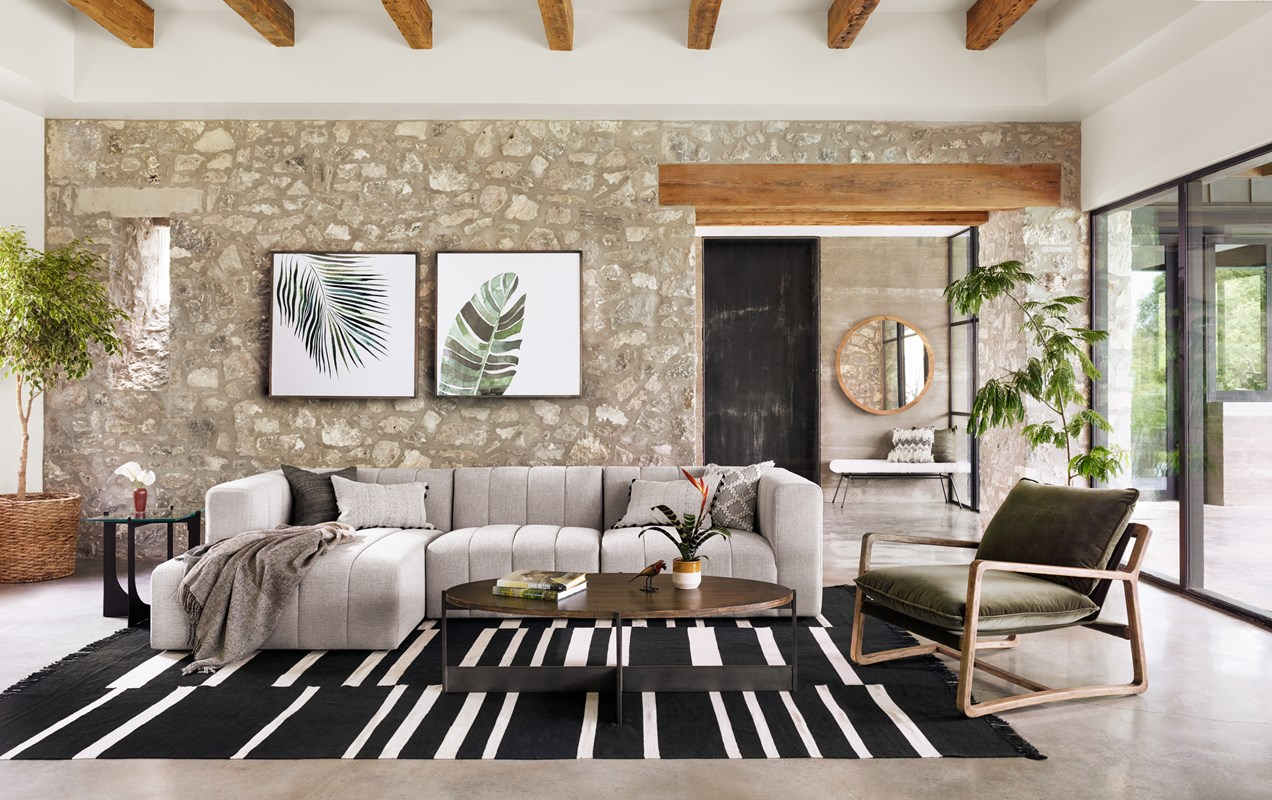 lookbook gallery langham channeled sectional and olive chair shannon oval coffee table mila square accent with chaise green upholstered ethan allen windsor chairs end lamps for