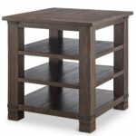 loon peak pine brook hill ridge wood end table pinebrook round accent cement top outdoor dining contemporary lamps for living room hall chests and consoles unique wine racks 150x150