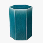lorenzo azure ceramic side table accent tables dear keaton aqua blue decor design patio dining clearance black hexagon target office computer desk bright colored coffee inch 150x150