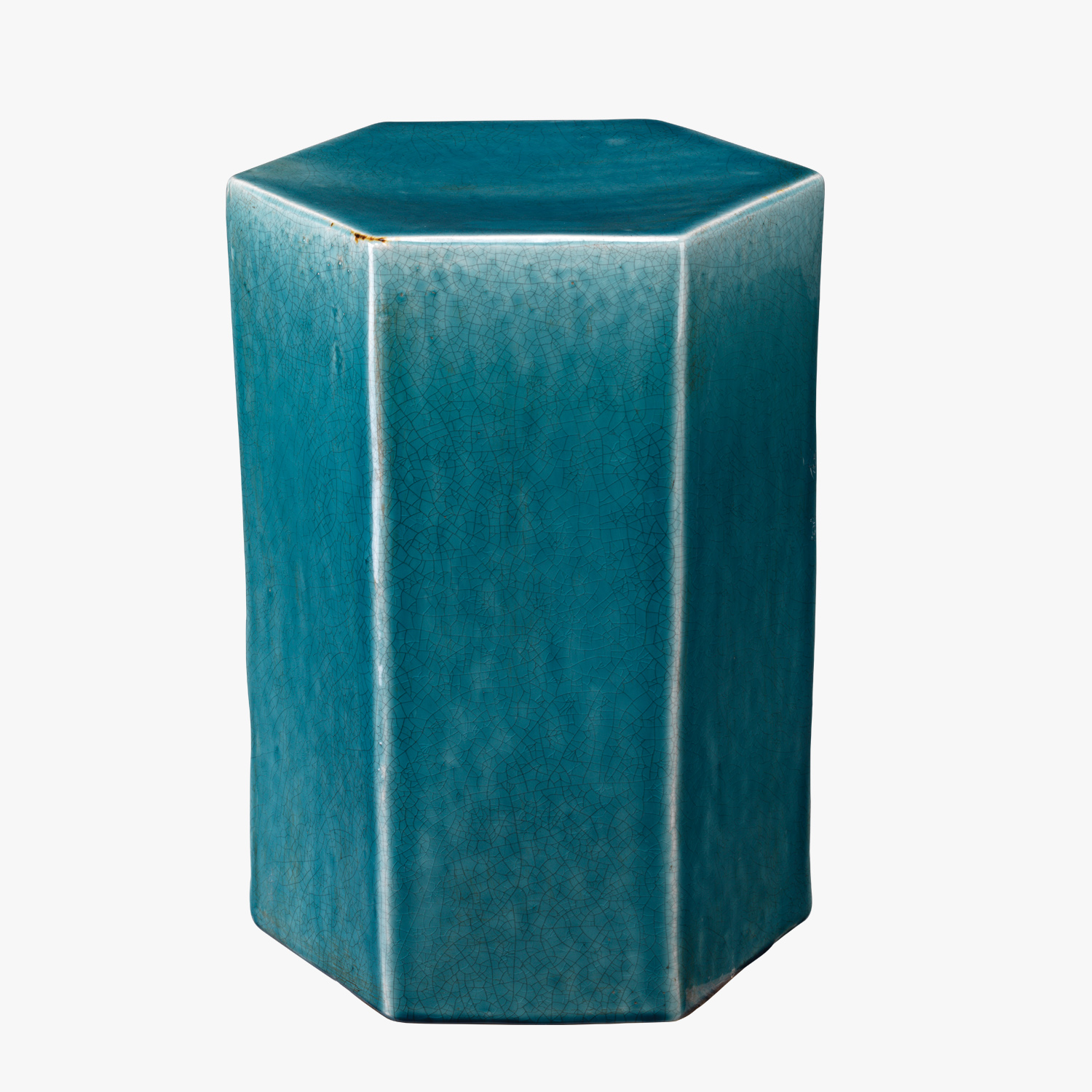 lorenzo azure ceramic side table accent tables dear keaton aqua blue decor design patio dining clearance black hexagon target office computer desk bright colored coffee inch