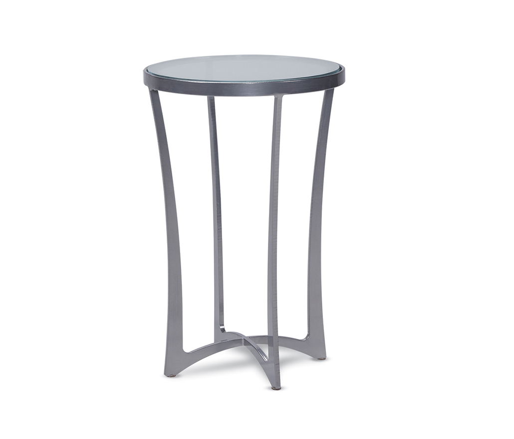 lotus drink table silver living room side accent tables charleston forge robb stucky coffee round nightstand with lamp attached large console cabinet twin size daybed modular