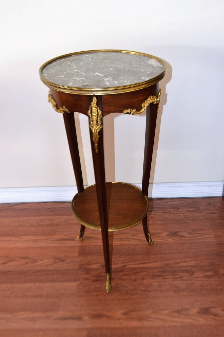 louis style mahogany round side table with bronze accents and dsc master accent charming three leg details each wrought iron queen gold legs christmas tablecloth runner crystal