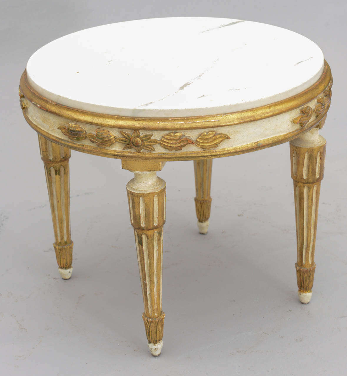 louis xvi giltwood accent table with carrara marble top for dsc italian mid century modern round coffee leg extensions long skinny tall pub set patio bar target throw rugs square