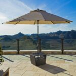 lounger side table with umbrella base portofino collection outdoor wood iron end round concrete slim white console rattan tables glass top frame queen modern blue lamp yellow 150x150
